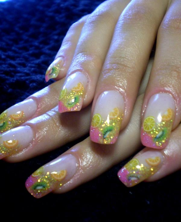 аквариумный дизайн ногтей пошагово: