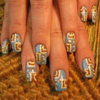 Дизайн ногтей с хром